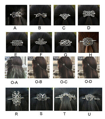 Viking Women Medieval Hairpins Hair Clips Stick Retro Head Jewelry Accessories