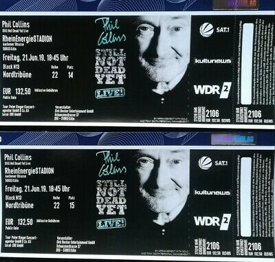2 Top Tickets Phil Collins Live in Köln am 21.06.19 Sitzplatz / beste Sicht!!!