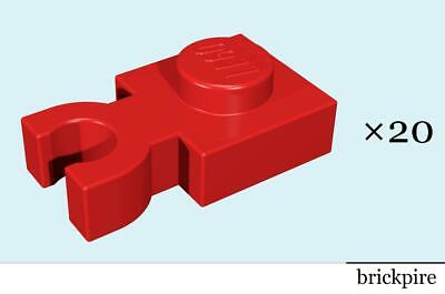 LEGO 5 Red 1x1 Plate Modified With Clip Vertical