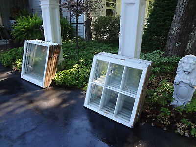 6 Sets Vtg House Barn Shed Garage 30X30 Wood Sash Double Hung 6 Mullion Windows