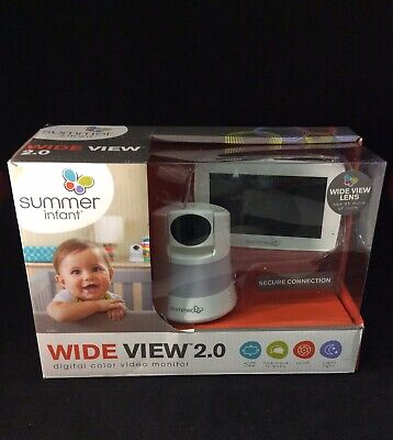 SUMMER INFANT Wide View 2.0 DIGITAL COLOR VIDEO Baby Monitor Night Light