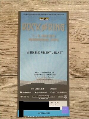 Rock am Ring Weekend Festival Ticket (2. Ticket in separater Auktion - 1)