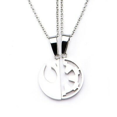 Star Wars Rogue One Rebel Alliance/Galactic Empire Symbol Pendant Necklace