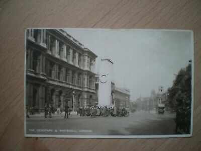 London, The Cenotaph And Whitehall, Postcard, 1926, People