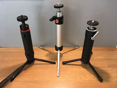 Collection Of 3 'Mini' Tripods-Rowi/Yashica/Photax-Superb Condition!
