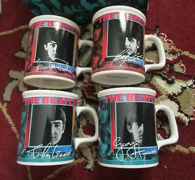 Beatles 1991 SET OF BOXED SET OF FOUR FULLY LICENSED COFFEE MUGS