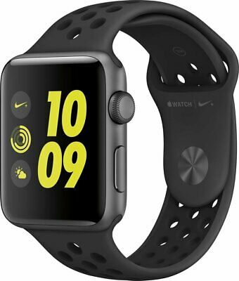 NEW Apple Watch Nike+ 38mm Space Gray Aluminum Case Anthracite/Black Sport Band