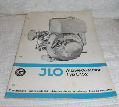 Original JLO spare parts lists Type L 152 dating to the late 1960's