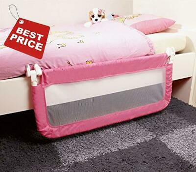Cot Bed Safety Rail Single Guard Protection Child Toddler Kids Children Pink NEW