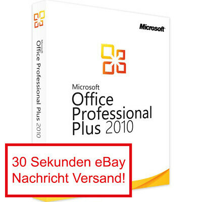 Microsoft Office 2010 Professional Plus Vollversion Software Lizenz E-Mail Pro