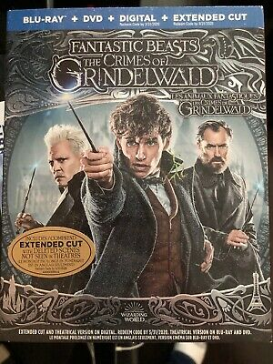 Fantastic Beasts The Crimes Of Grindelwald Bluray & Dvd & Digital Set