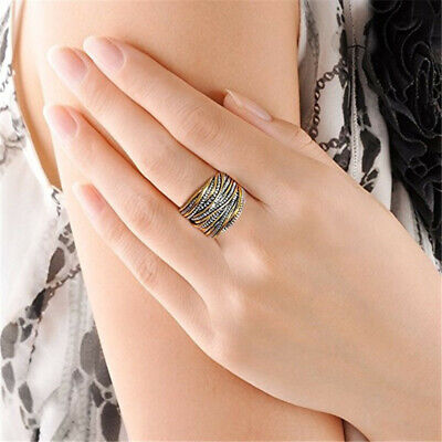 Fashion Punk 2-Tone Stainless Steel Ring Wide Band Men/Women's Jewelry
