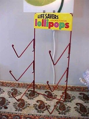 Vintage Lifesavers Life Savers Lollipop Store Candy Display Rack NR