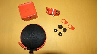 Genuine JBL Fast charge cord, earbuds, adapter & Case for JBL earphones