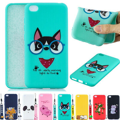 Cute Cartoon Soft Silicone With Strap Case Cover For Redmi 7 5Plus Note 6 7 5Pro