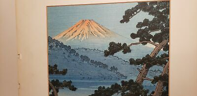 Antique Woodblock Print-Asian-Japan-Signed-On Rice Paper-7X8In-Nr!
