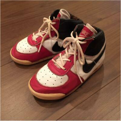 on sale d5331 c11f4 NIKE BABY JORDAN 1985 Highcut Color White x Red Black Cute Vintage Sneakers  M22