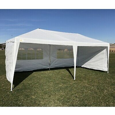 PALM SPRINGS 3m x 6m GARDEN GAZEBO / PARTY TENT / MARQUEE with 4 PANELS