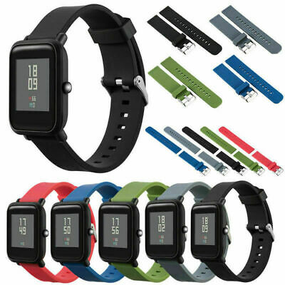 20mm Silicone Soft Watch Band for Xiaomi HUAMI AMAZFIT Bip Watch Wrist Strap CN