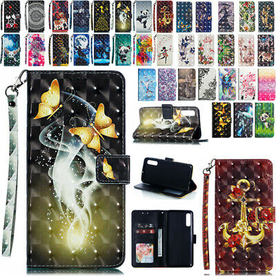 For Samsung Galaxy A50 A30 A20 Card Case Flip Magnet Leather Wallet Stand Cover
