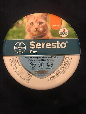 * FREE SHIPPING* SERESTO CAT Flea and Tick Collar for Cats all Weights 8 Month