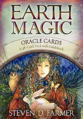Earth Magic Oracle Cards: A 48-Card Deck and Guidebook by Steven D. Farmer (Engl