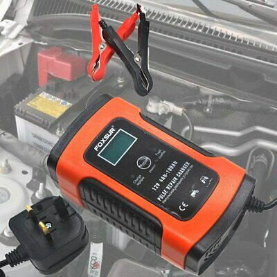 Motorcycle Car Battery Charger 12V 8A Intelligent Pulse Repair Wet Lead Acid Pro
