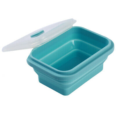 1PC Silicone Eco Folding Bento Lunch Box Collapsible Portable Food Container H