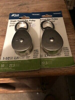 "2X - 1-1/2"" BLUE HAWK 0656965 50Lbs. SINGLE SWIVEL EYE PULLEY AC1085A BRAND NEW"