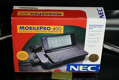 BOXED NEC MobilePro 400 Windows CE PDA w/ AC, Docking Station, Manual, CD ~WORKS