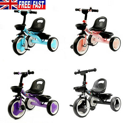 Baby Kids Children Toddler Tricycle Ride on Trike 3 Wheels Bike Safety 4 Colour