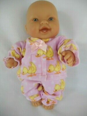 Handmade dolls clothes (Pink Winter Pyjamas) to fit 20cm, 8 inch Berenguer doll