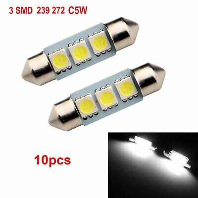 2x T10 501 W5W CAR SIDE LIGHT BULBS ERROR FREE CANBUS WEDGE 6-SMD LED XENON HID