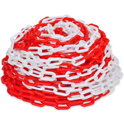 30 m Plastic Warning Chain Red and White Warehouse Caution Safety Barrier