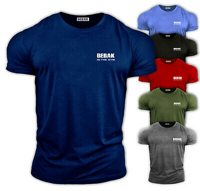Mens Gym T Shirt  Bodybuilding Top Workout Clothing  BEBAK Training UK VEST MMA