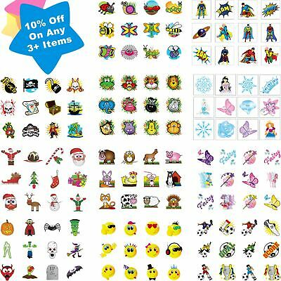 72 PIRATE TEMPORARY TATTOOS Assorted Design Party Bag Filler Loot Girls Boys