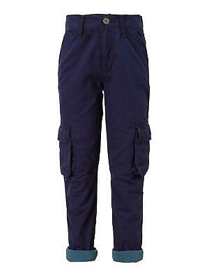 John Lewis Boys Lined Combat Trousers / Navy 3 Years Brand New With Tags