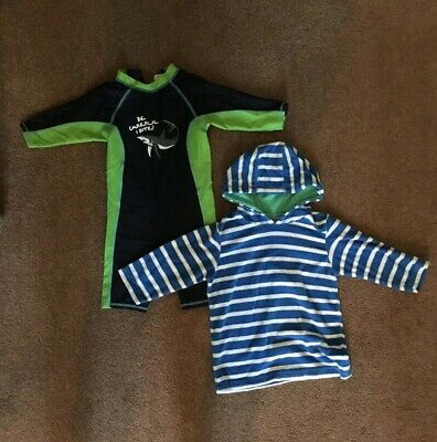Boys 12-18M, M&S Uv Sunsafe Swimsuit & Mothercare Towel Hooded Top