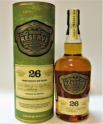1 x IRISH RESERVE 26 Y.OLD SINGLE MALT WHISKEY, 70cl, 40%, With a gift tube