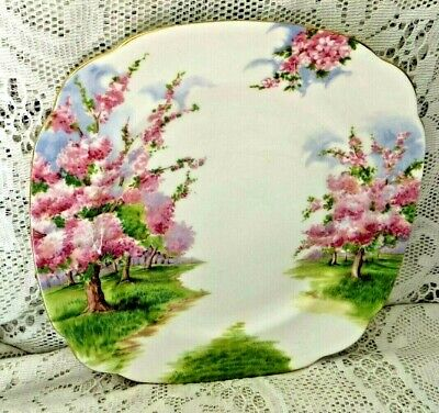Vintage Royal Albert 'Blossom Time' Cake Plate - Excellent Condition