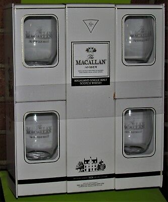 1 x The MACALLAN AMBER 2014, OAK CASKS, 70cl, 40% vol,+ Gift 4 Glasses Ltd. Edit