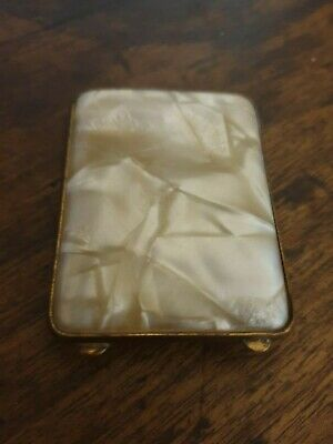 antique small faux mother of pearl  CIGARETTE CASE