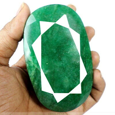 Earth mined 1700 Ct Natural Finest Green Emerald From Brazil Oval Cut Gemstone