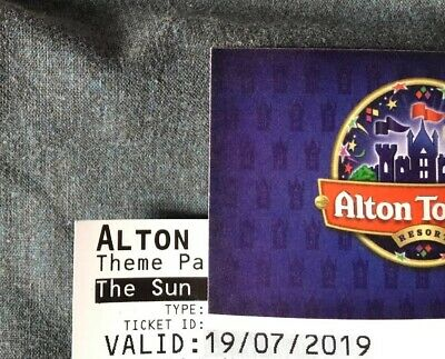 2 x Alton Towers Tickets , Valid Only Friday 19th July 2019, Offers Considered