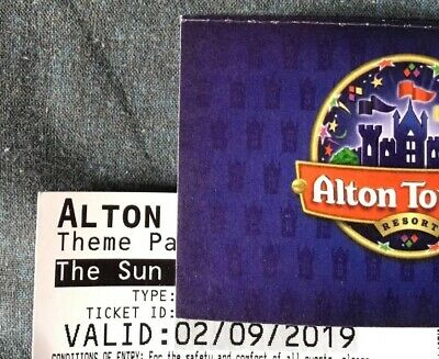 2 x Alton Towers Tickets , Valid Only Monday 2nd Sept 2019, Offers Considered