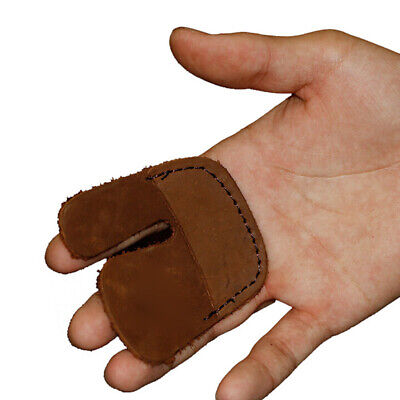 Adjustable Archery Finger Tab Guard Protector Gear Bow Glove Faux Cowhide JD