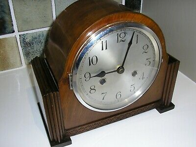 1930's WOODEN CASED CLOCK (CONVERTED)