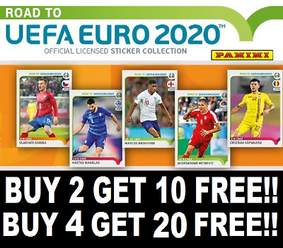 Panini Road To Euro 2020 Stickers ☆ Buy 2 Get 10 Free ☆ Buy 4 Get 20 Free #250+