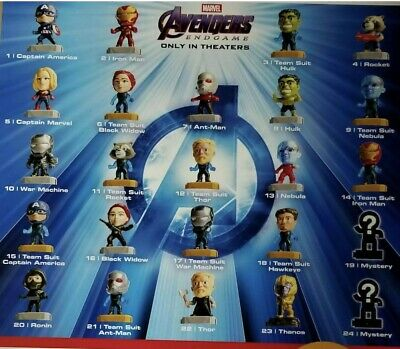 Pick Your Favorite New McDonald's 2019 Marvel Avengers Endgame Happy Meal Toys