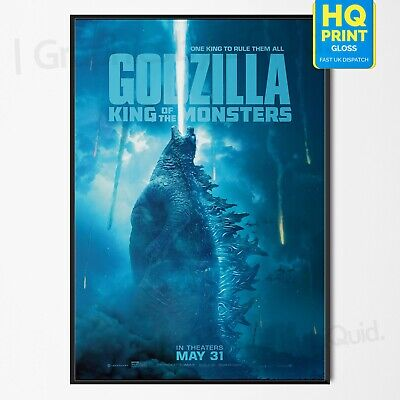 Godzilla King of the Monsters Poster Movie 2019 Film Print | A4 A3 A2 A1 |